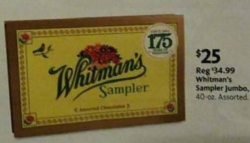 AAFES Black Friday: Whitman's Sampler Jumbo Assorted Chocolates for $25.00