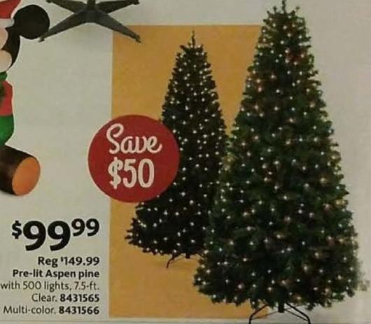 AAFES Black Friday: 7.5-ft. Pre-Lit Aspen Pine Clear of Multi-Color 500 Light Christmas Tree for $99.99