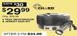 Dunhams Sports Black Friday: Chard 4 Tray Dehydrator & Jerkey Gun Kit for $29.99