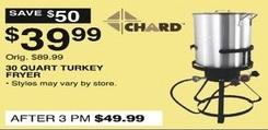 Dunhams Sports Black Friday: Chard 30-qt. Turkey Fryer for $39.99