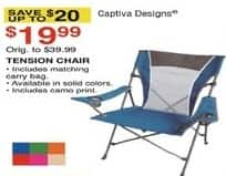 Dunhams Sports Black Friday: Captiva Designs Tension Chair for $19.99