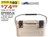 Dunhams Sports Black Friday: Mammoth Cruiser 12-qt. Cooler for $74.99
