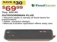 Dunhams Sports Black Friday: FoodSaver Outdoorsman Plus for $69.99