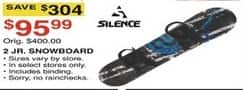 Dunhams Sports Black Friday: Silence 2 Jr. Snowboard for $95.99