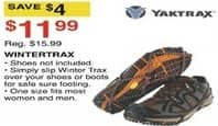 Dunhams Sports Black Friday: Yaktrax Wintertrax for $11.99