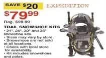 Dunhams Sports Black Friday: Expedition Trail Snowshoe Kits for $79.99