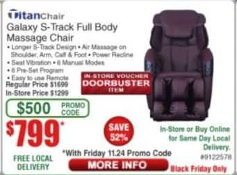 Frys Black Friday: Titan Chair for $799.00