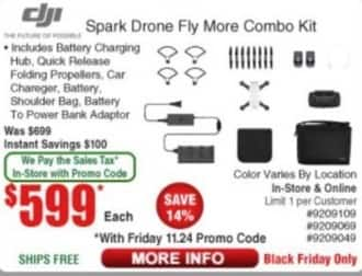 Frys Black Friday: CIJI Spark Drone Fly More Combo Kit for $599.00
