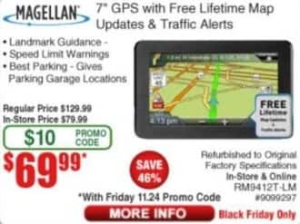 frys black friday magellan 7 gps with free lifetime map updates traffic alerts for. Black Bedroom Furniture Sets. Home Design Ideas