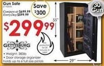 Rural King Black Friday: Gettysburg Fire Resistant 30 Gun Safe w/ Storage 30FGS for $299.99