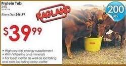 Rural King Black Friday: Ragland Mills Protein Mineral Tub 24% 200 Lbs for $39.99