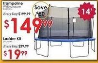 Rural King Black Friday: 14' Trampoline w/ Enclosure for $149.99