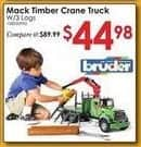 Rural King Black Friday: Bruder Mack Granite Timber Crane Truck w/ 3 Logs for $44.98