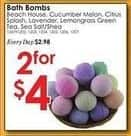 Rural King Black Friday: Beach House Bath Bomb, Assorted Scents - 2 for $4.00