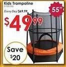 """Rural King Black Friday: 55"""" Kids Trampoline w/ Enclosure for $49.99"""