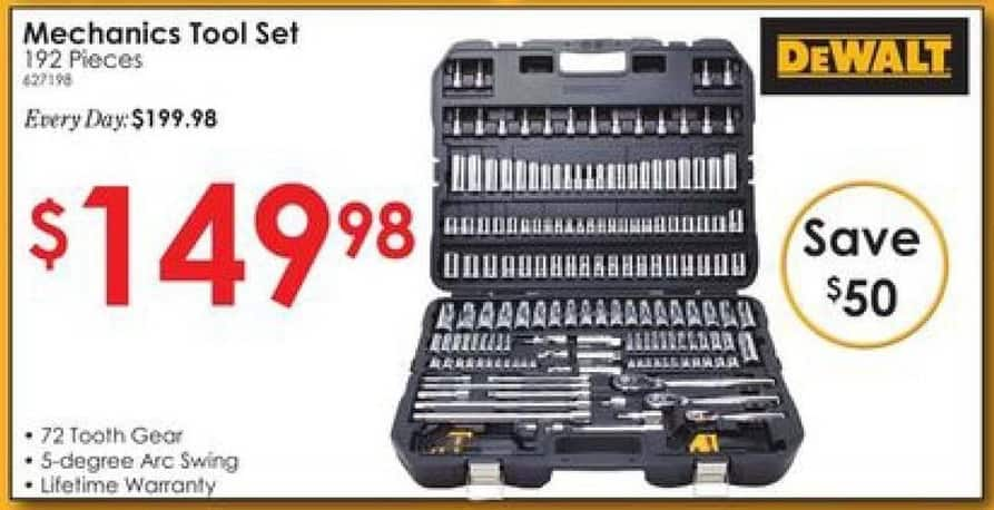 Rural King Black Friday: DeWalt 192 piece Mechanic's Tool Set for $149.98