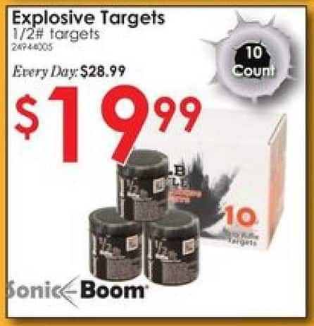 Rural King Black Friday: Sonic Boom 1/2 lb. Exploding Rifle Target - 10 Pack for $19.99