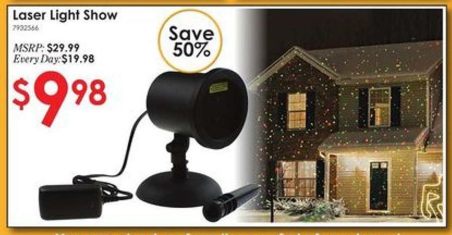 Rural King Black Friday: Everlasting Glow Laser Light Show Lightscape LED Light Projector for $9.98
