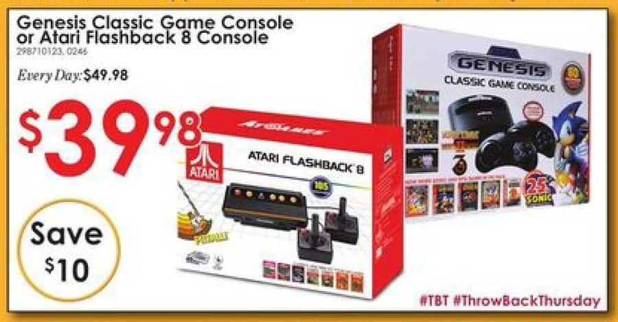 Rural King Black Friday: Genesis Classic Game Console or Atari Flashback 8 Console for $39.98