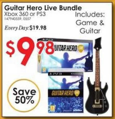Rural King Black Friday: Guitar Hero Live Bundle Xbox 360 or PS3 for $9.98