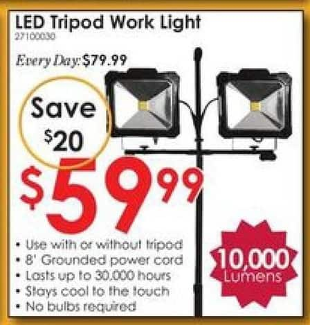 Rural King Black Friday: LED Tripod Work Light 10,000 Lumens for $59.99