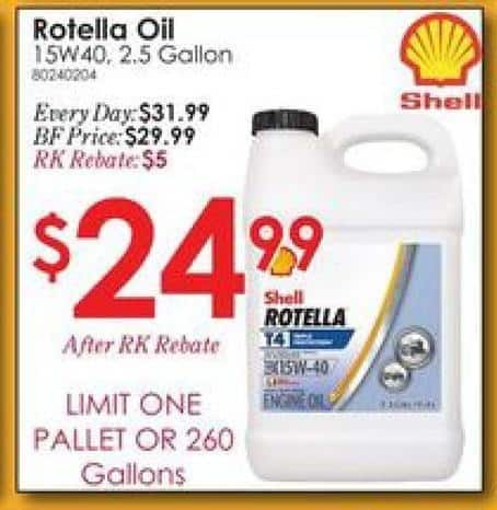 Shell Rotella T4 >> Rural King Black Friday Shell Rotella T4 15w 40 Heavy Duty Diesel