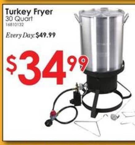 Rural King Black Friday: Country Trails 30 Qt. Turkey Fryer for $34.99