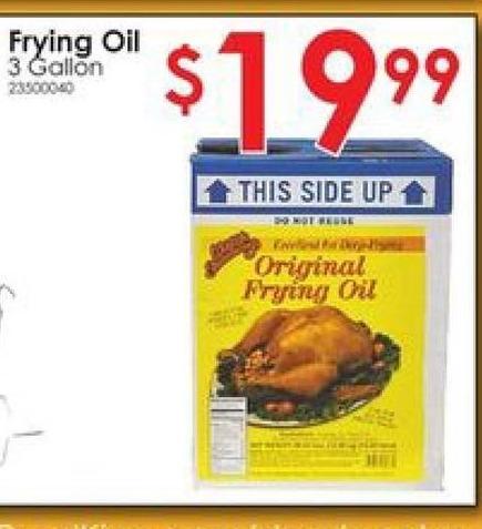 Rural King Black Friday: Wildlife Seasonings Original Frying Oil 3 Gallon for $19.99
