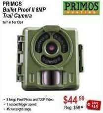 Sportsman's Warehouse Black Friday: Primos Bullet Proof II 8MP Trail Camera for $44.99