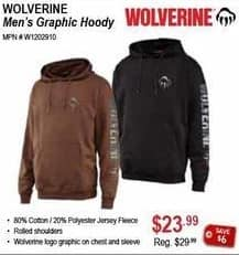 Sportsman's Warehouse Black Friday: Wolverine Men's Graphic Hoodie for $23.99