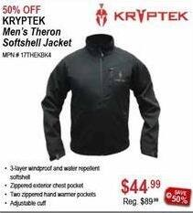 Sportsman's Warehouse Black Friday: Kryptek Men's Theron Softshell Jacket for $44.99