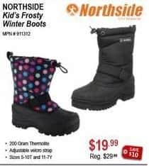 Sportsman's Warehouse Black Friday: Northside Kid's Frosty Winter Boots for $19.99