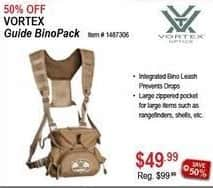Sportsman's Warehouse Black Friday: Vortex Guide BinoPack for $49.99