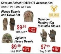 Sportsman's Warehouse Black Friday: HotShot Defender Hunting 40g Insulated Gloves for $7.99