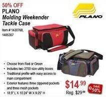 Sportsman's Warehouse Black Friday: Plano Molding Weekender Tackle Case for $14.99