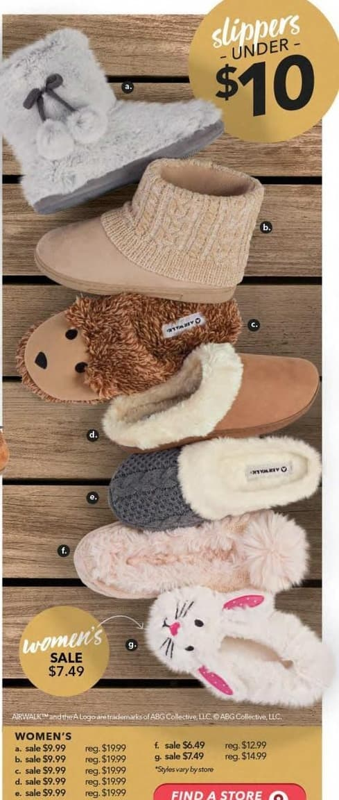 Payless ShoeSource Black Friday: Airwalk Women's Fuzzy Slippers for $6.49