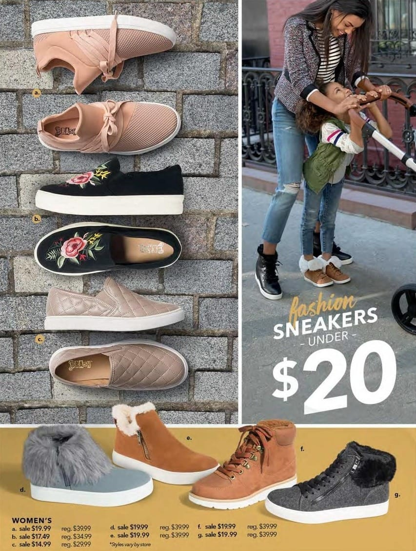 Payless ShoeSource Black Friday: Women's Fashion Sneakers for $14.99