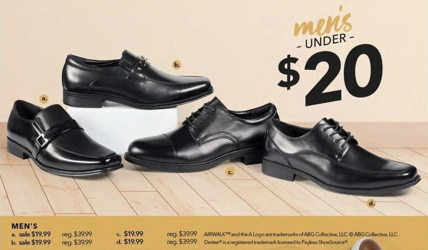 Payless ShoeSource Black Friday: Airwalk Men's Shoes, Assorted Styles for $19.99