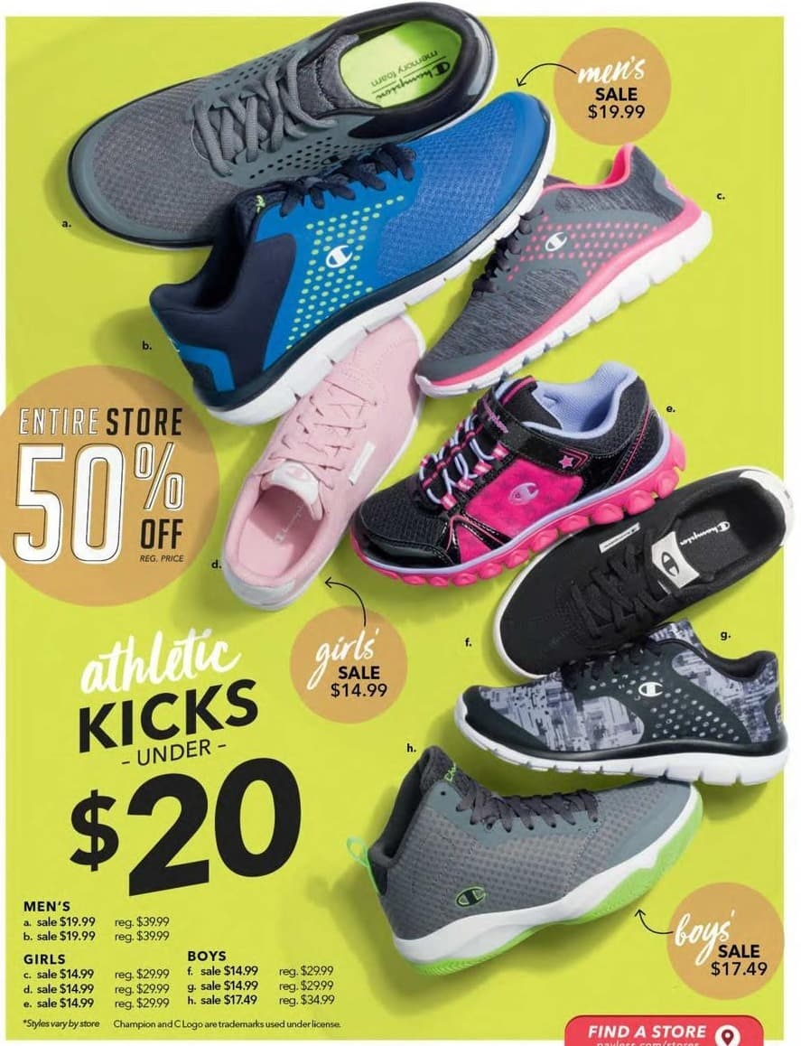 Payless ShoeSource Black Friday: Champion Men's Shoes, Assorted Styles for $19.99