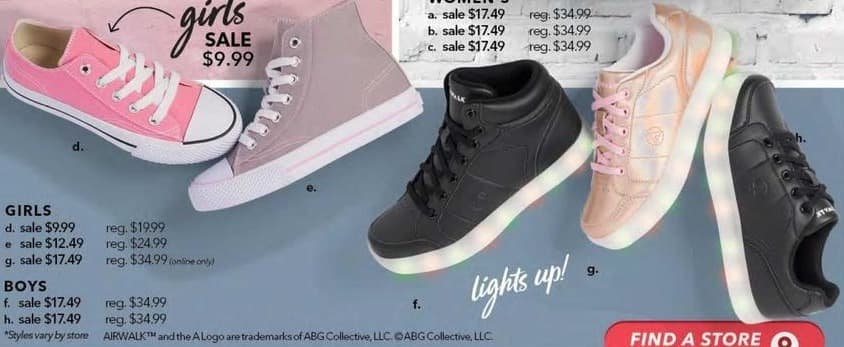 Payless ShoeSource Black Friday: Airwalk Girls' Sneaker Shoes for $9.99 - $12.49