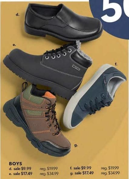 Payless ShoeSource Black Friday: Boys' Athletic, Dress Shoes or Boot Styles for $9.99 - $17.49