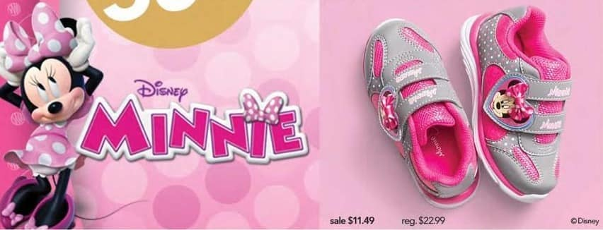 Payless ShoeSource Black Friday: Disney Minnie Girls' Shoes for $11.49