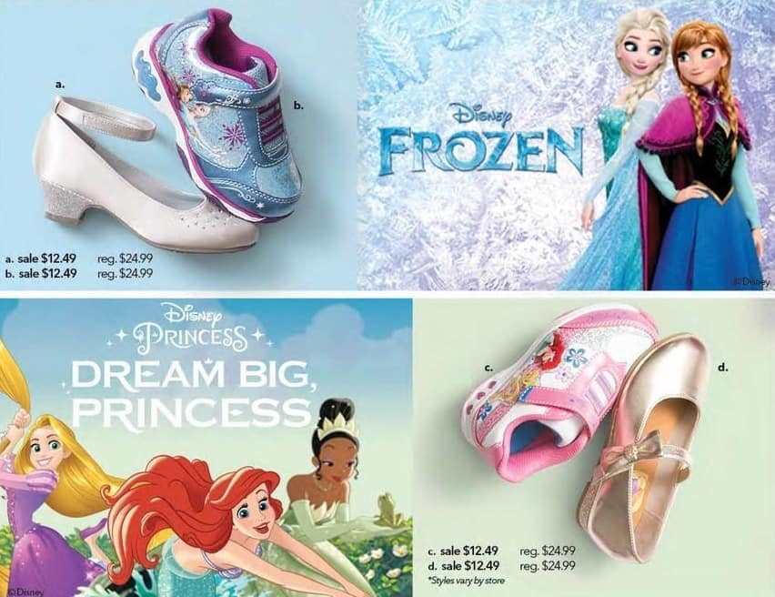 Payless ShoeSource Black Friday: Disney Girls' Frozen, Dream Big Princess Shoes, Assorted Styles for $12.49
