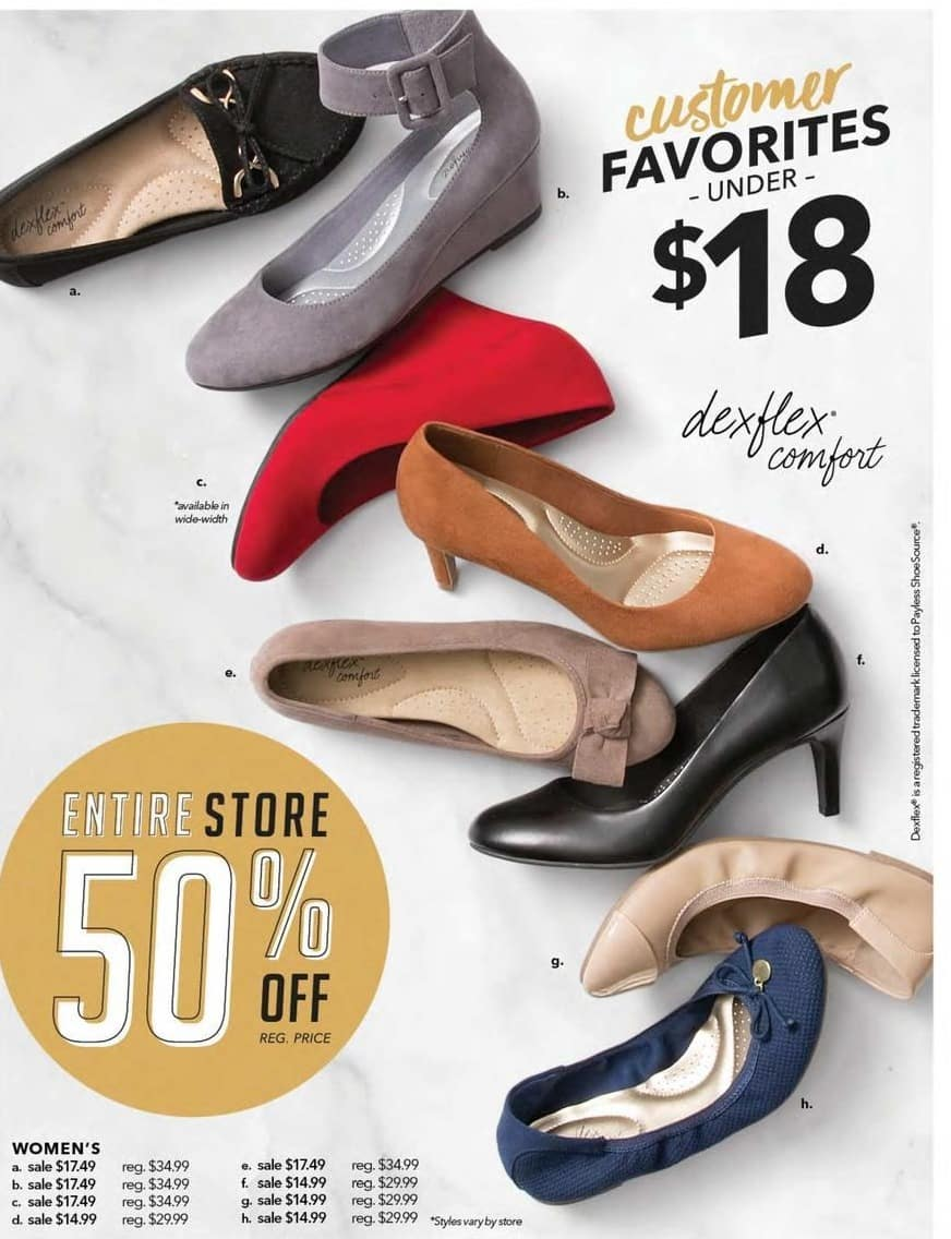 89f4bba821091 Payless ShoeSource Black Friday: Dexflex Comfort Women's Shoes, Assorted  Styles for $14.99 - $17.49