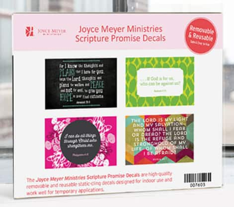 Free Scripture Promise Decals from Joyce Meyer *Religious*