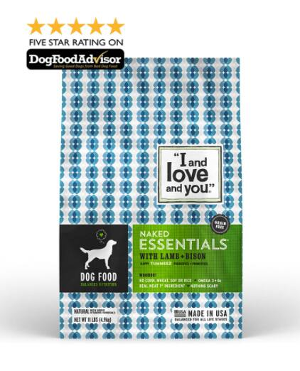 "Free 4 oz Sample ""I and Love and You"" Naked Essentials Dog Food (Limited Qty. Per Day)"