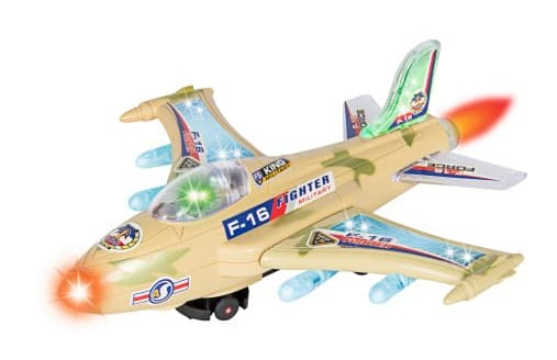 Best Choice Products Kids Toy F-16 Fighter Jet Airplane, Flashing Lights and Sound, Bump and Go Action $7.99 (List $44.95) @Walmart Free S/H
