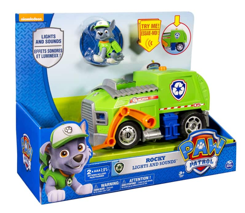 Paw Patrol Rocky's Lights and Sounds Recycling Truck Vehicle and Figure $10 @Amazon