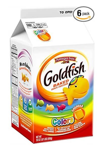 6-Count Pepperidge Farm Goldfish Crackers, Colors, 30 Ounce Size Carton $26 or Less AC + 5% SS FS