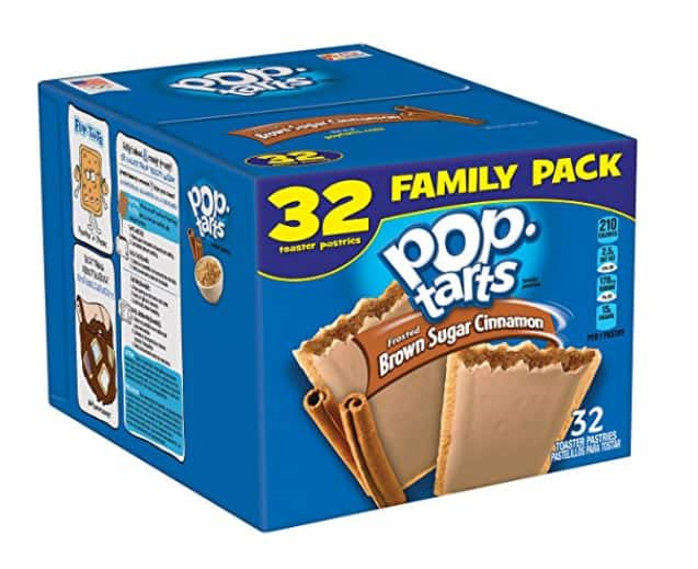 32-Count Kellogg's Pop-Tarts Frosted Toaster Pastries, Frosted Brown Sugar Cinnamon $6.63 or Less w/SS *Add-On